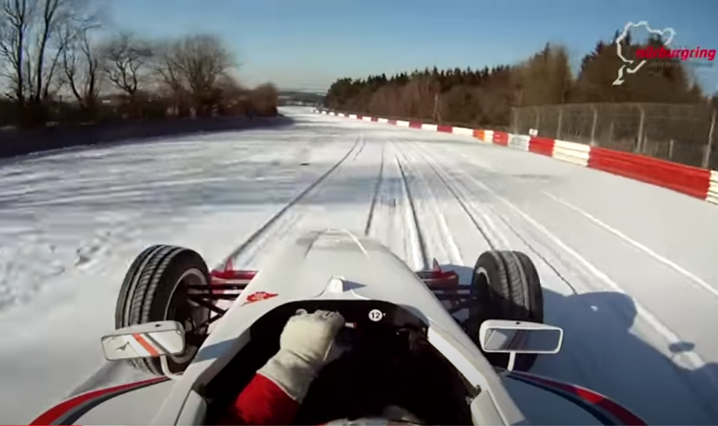 This Guy Drives A Formula Car Around Nürburgring Nordschleife In Snow