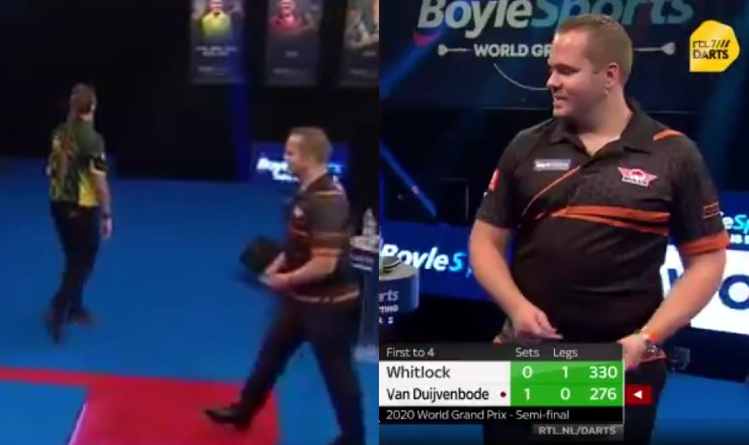 VIDEO: Moment Between Simon Whitlock & Dirk van Duijvenbode