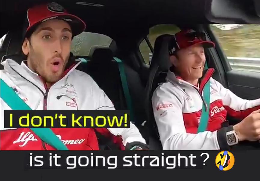 Kimi Raikkonen Scares Antonio Giovinazzi Around Nürburgring Nordschleife