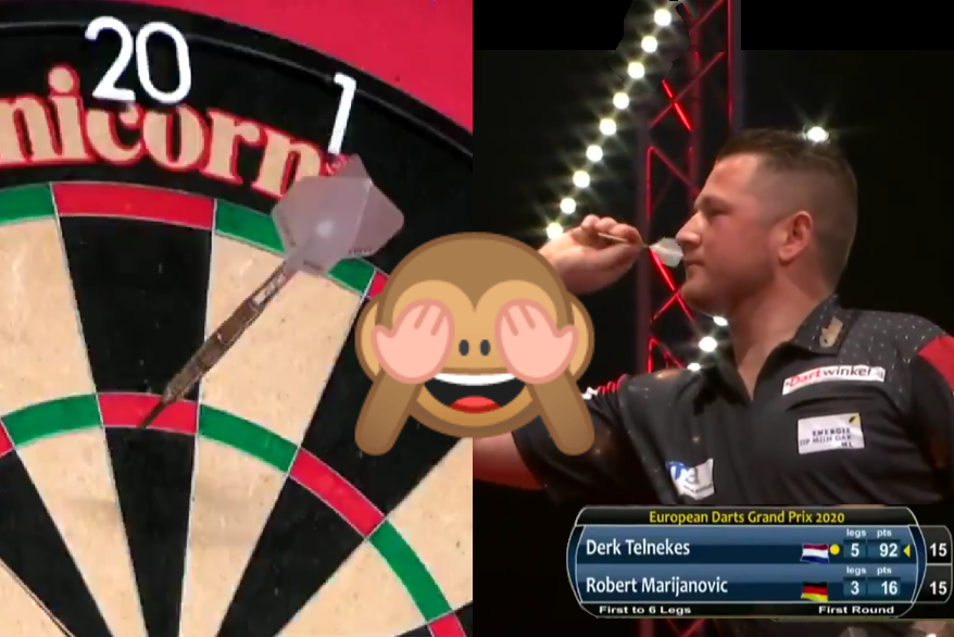 VIDEO: Derk Telnekes Hits Bizarre Match Winning 92 Checkout