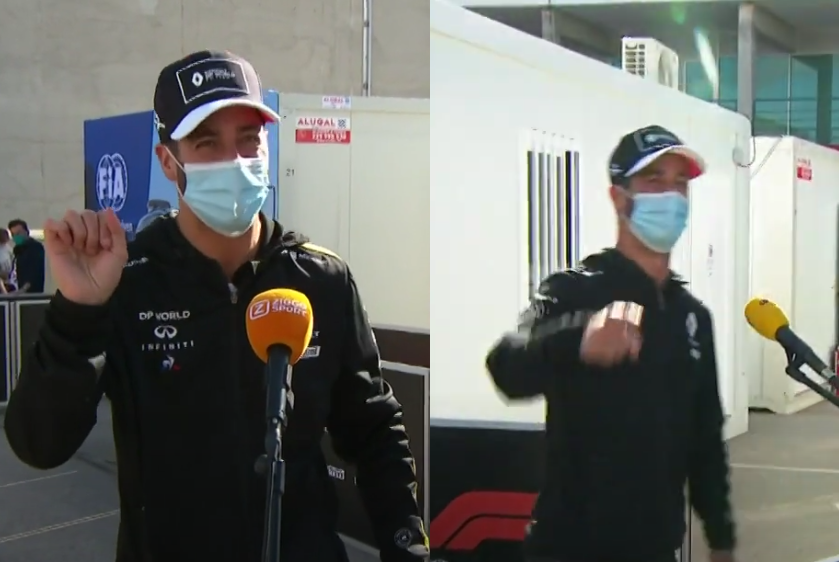 VIDEO: Daniel Ricciardo Had Another Hilarious Ending After Interview