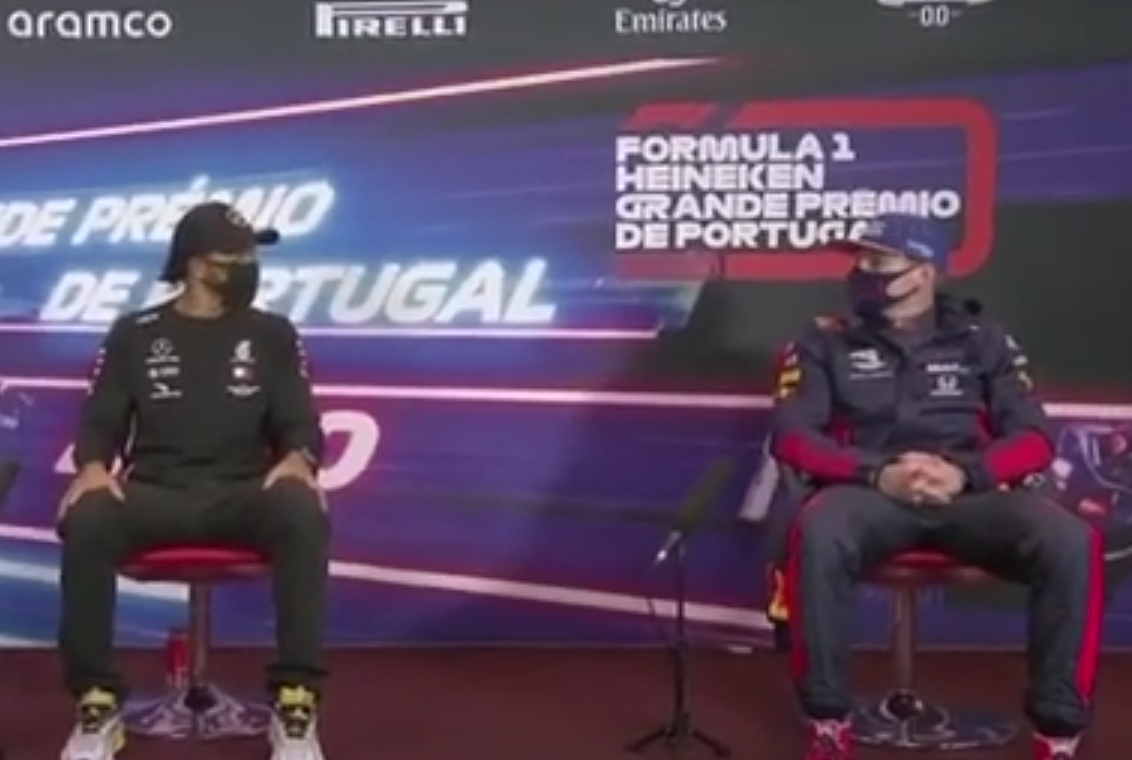 Funny Moment Between Verstappen & Hamilton After Portugeuse Grand Prix