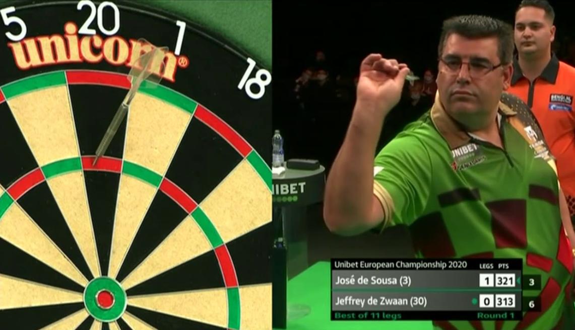 VIDEO: Jose de Sousa Hits 9-Darter At European Championship