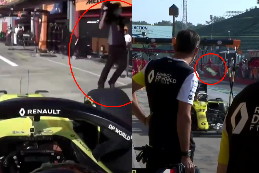 VIDEO: Scary Moment When Esteban Ocon Entered Wrong Pit Box