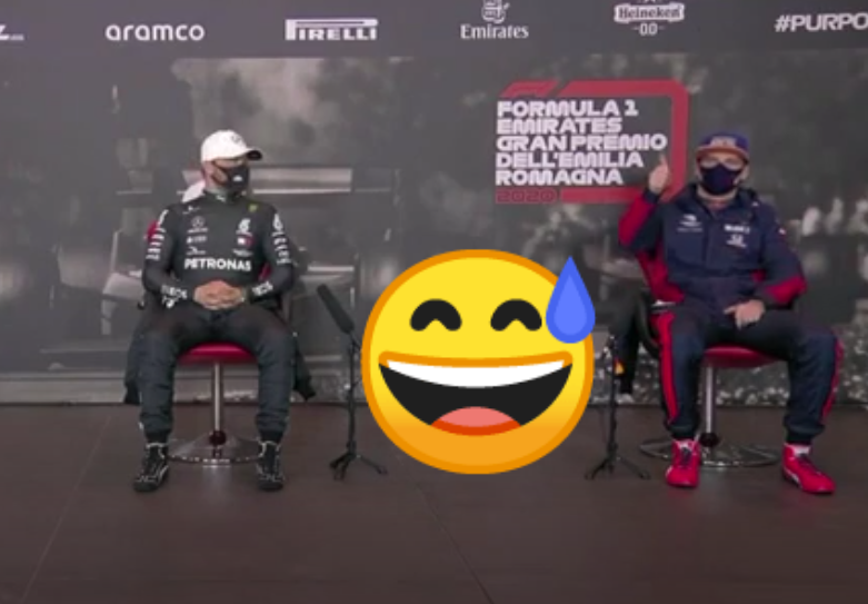 Funny Moment During Press Conference After Qualifying Imola Grand Prix
