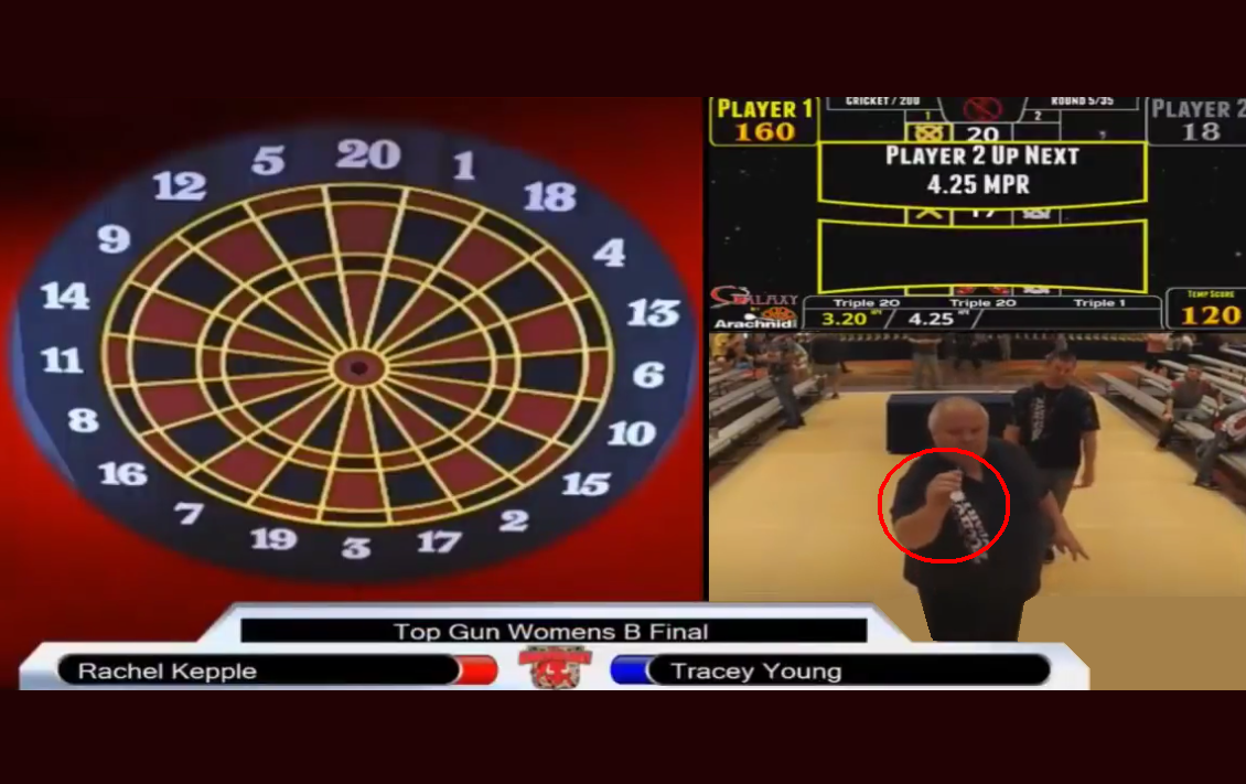VIDEO: This Guy Wins Match While Throwing His Darts Backwards