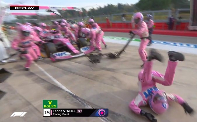 VIDEO: Lance Stroll Pit Stop Incident During Imola Grand Prix