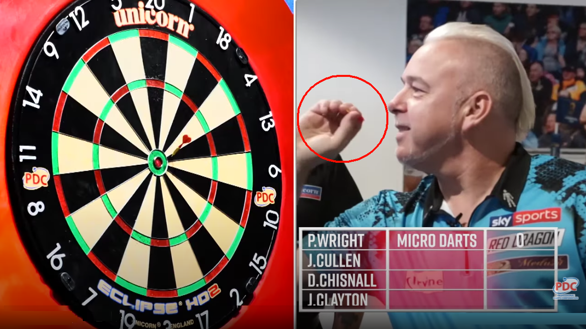VIDEO: Peter Wright Playing A Game With Worlds Smallest Darts