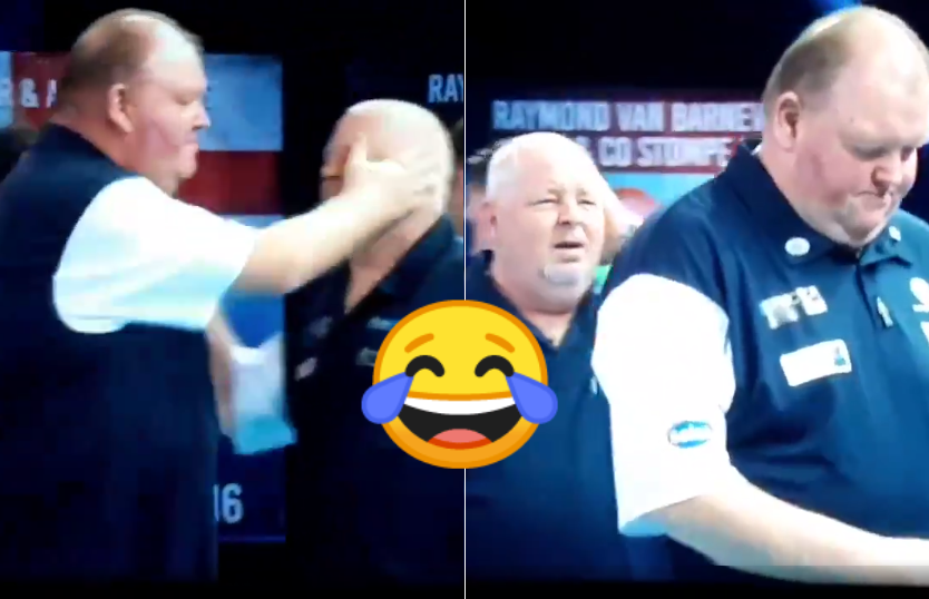 Funny Moment During Walk On Team Scotland At World Cup of Darts