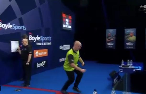 VIDEO: Michael van Gerwen Almost Tripped On Grand Slam Stage