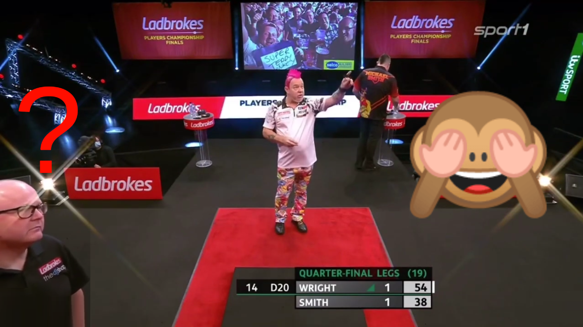 Funny George Noble Miscount Moment With Peter Wright's Score