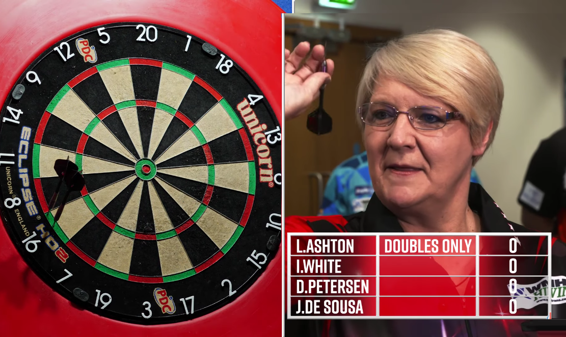 Lisa Ashton Beats Jose de Sousa, Ian White & Devon Petersen In Forfeit Darts 🤣