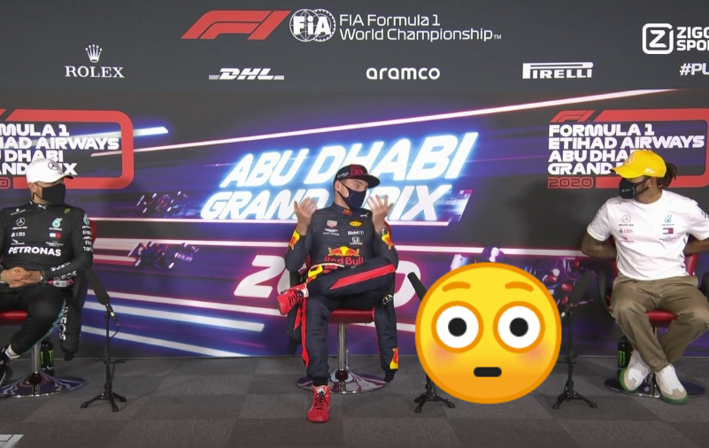 VIDEO: Lewis Hamilton's Surprised Reaction In Press Conference After race