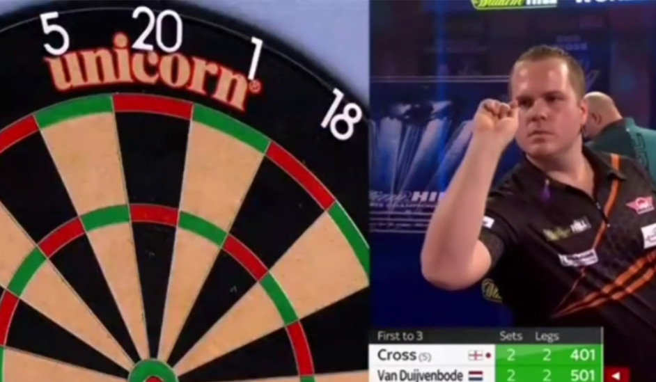 VIDEO: Dirk van Duijvenbode Ends In Style With 12-Darter Without Triple 20