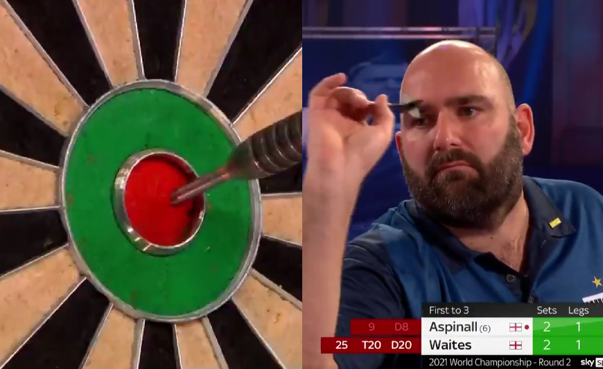 VIDEO: Scott Waites Hits Best Checkout With Three Darts On Bull