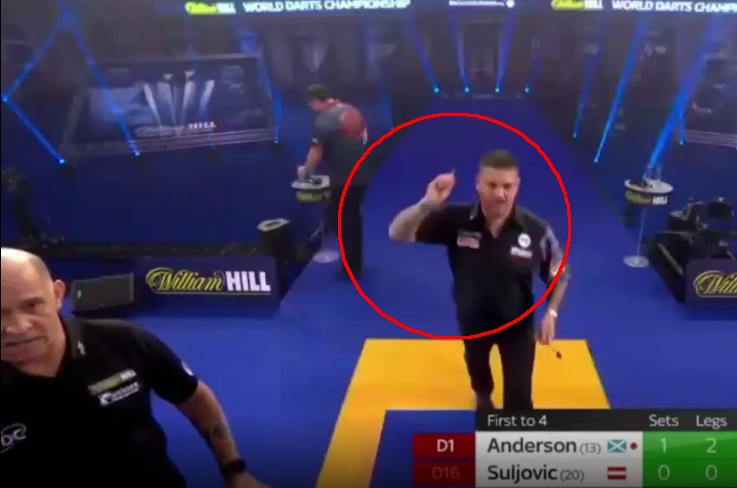 VIDEO: Gary Anderson Might Get Fined For This Furious Moment