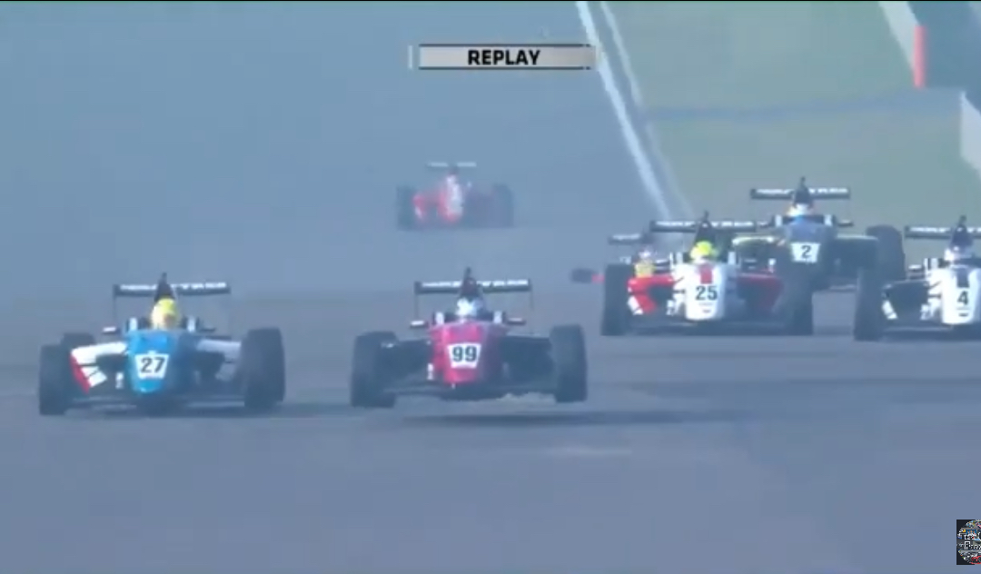 VIDEO: Cars Going Airborne During MRF Challenge at Buddh Circuit
