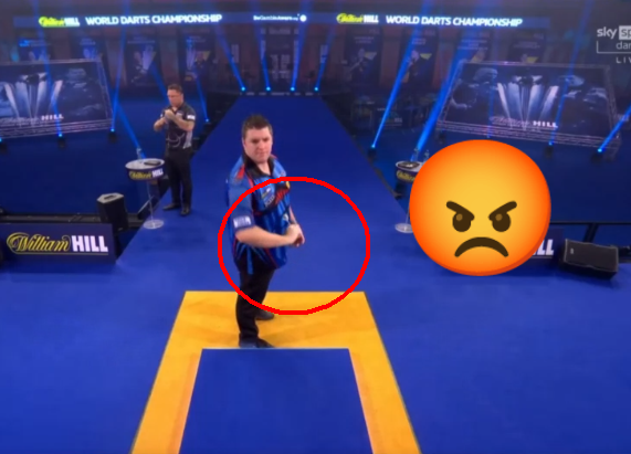 VIDEO: Daryl Gurney's ANGRY Underarm Throw Against Gerwyn Price