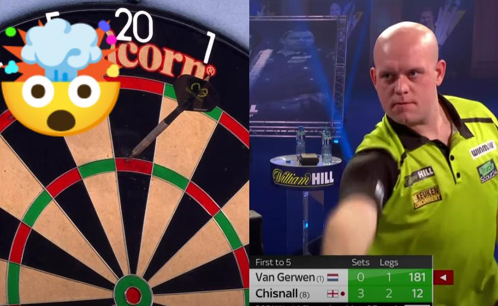 VIDEO: Michael van Gerwen Completes 9-Darter For Dave Chisnall