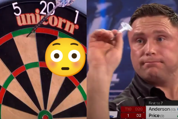 VIDEO: Gerwyn Price Missed Dartboard During World Championship Final