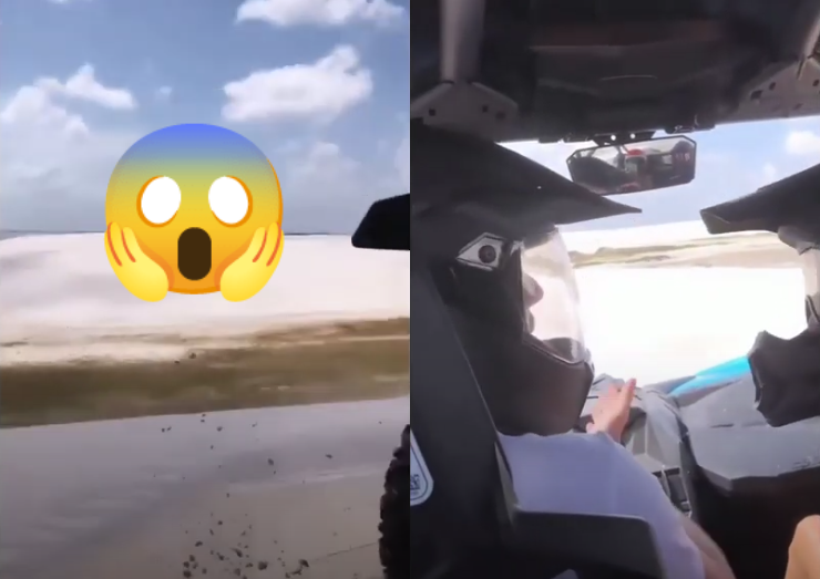 VIDEO: Max Verstappen Scaring His Girlfriend When Almost Driving Into Deep Cliff