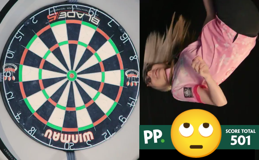 VIDEO: Fallon Sherrock Plays A Game Of Darts Upside Down