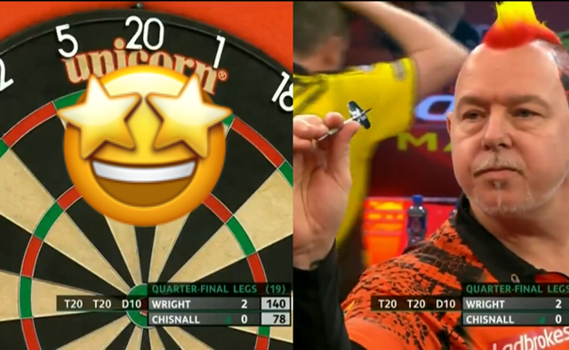 VIDEO: Peter Wright Hits 140 Exhibition Checkout