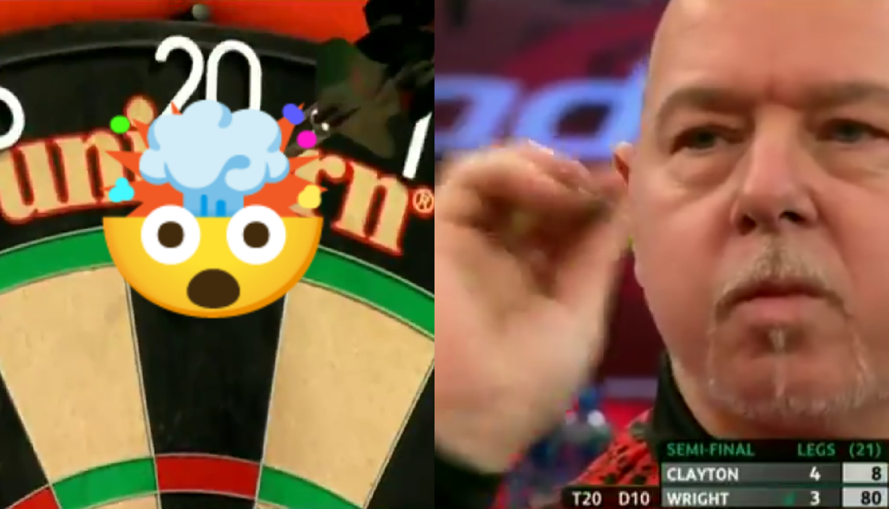 VIDEO: Peter Wright Missed Dartboard As Exhibition Shot Goes WRONG