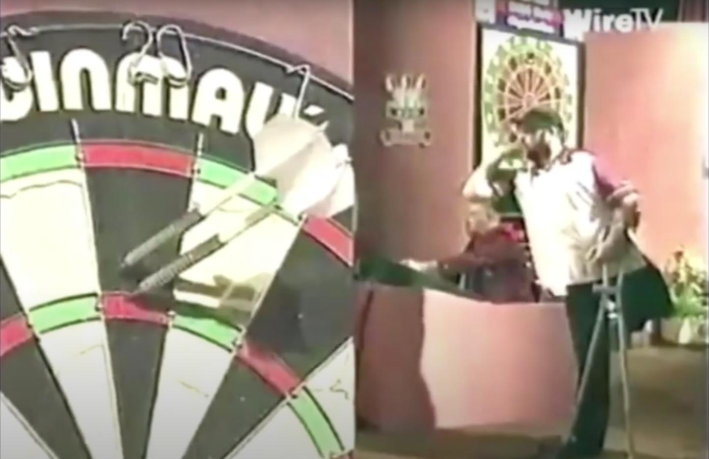 VIDEO: One-legged Darts Player Alan Chaffey Beats World Number 1