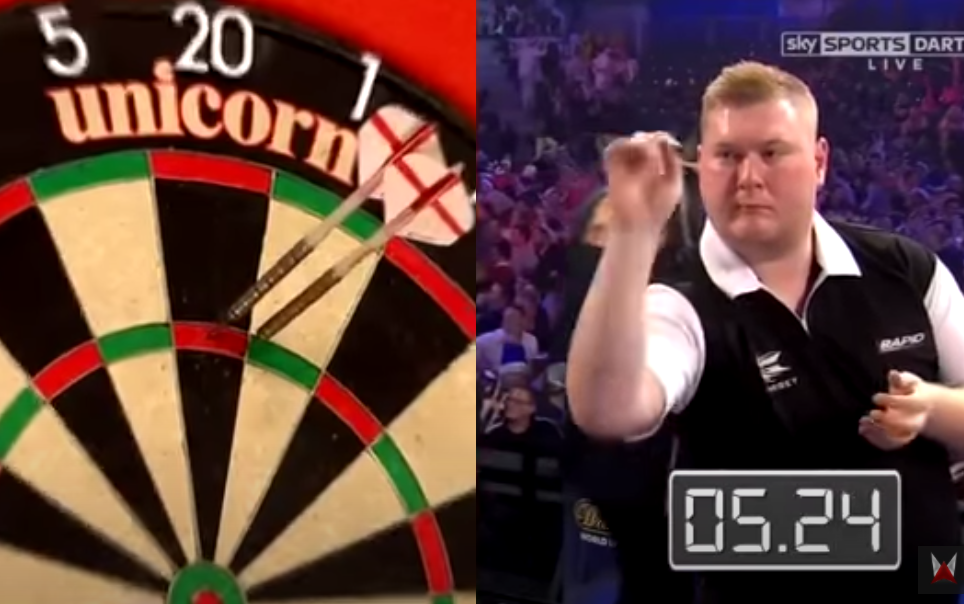 VIDEO: Ricky Evans Hits 9-Darter In Under 10 Seconds?!