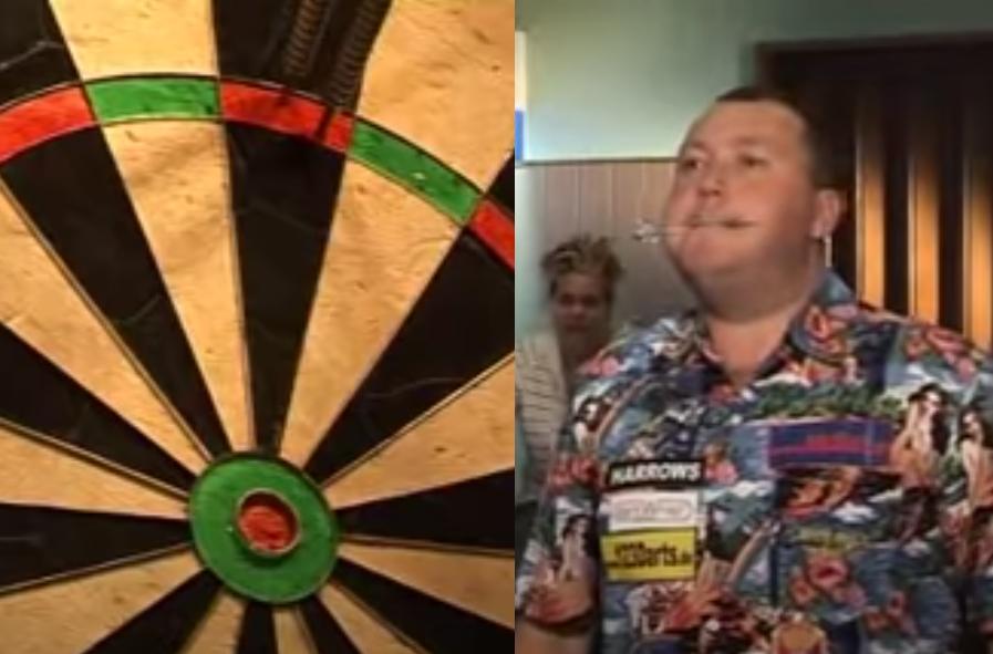 VIDEO: Wayne Mardle Hits 170 Checkout With Blow Darts 😅
