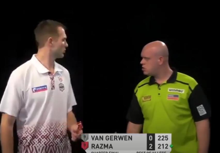 VIDEO: Incident Between Michael van Gerwen And Madars Razma