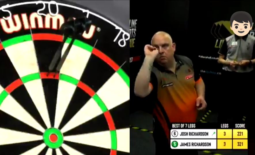 VIDEO: James Richardson Hits 9-Darter Against A Very Special Opponent