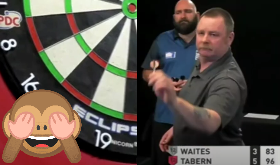 VIDEO: Alan Tabern Missed Dartboard During PDC Super Series