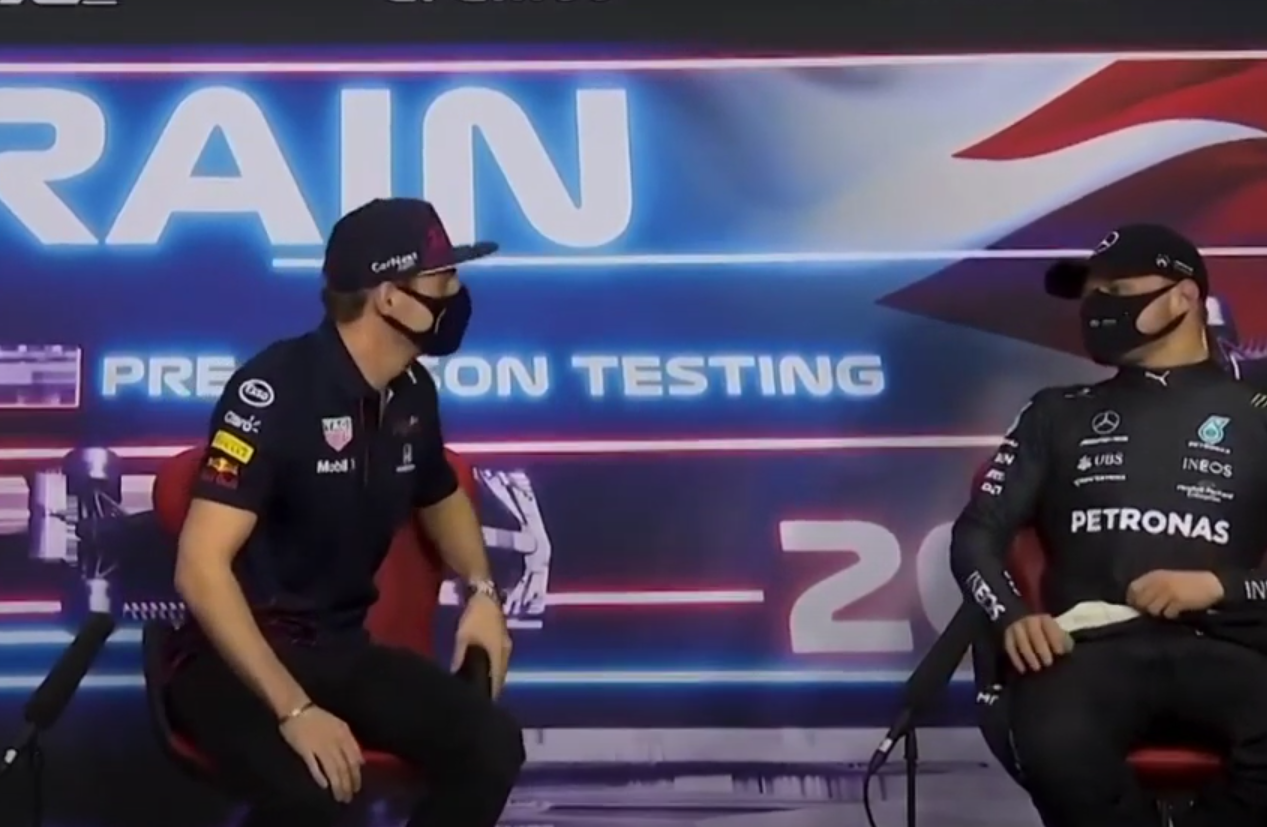 Funny Moment Valtteri Bottas & Max Verstappen After Testing Days