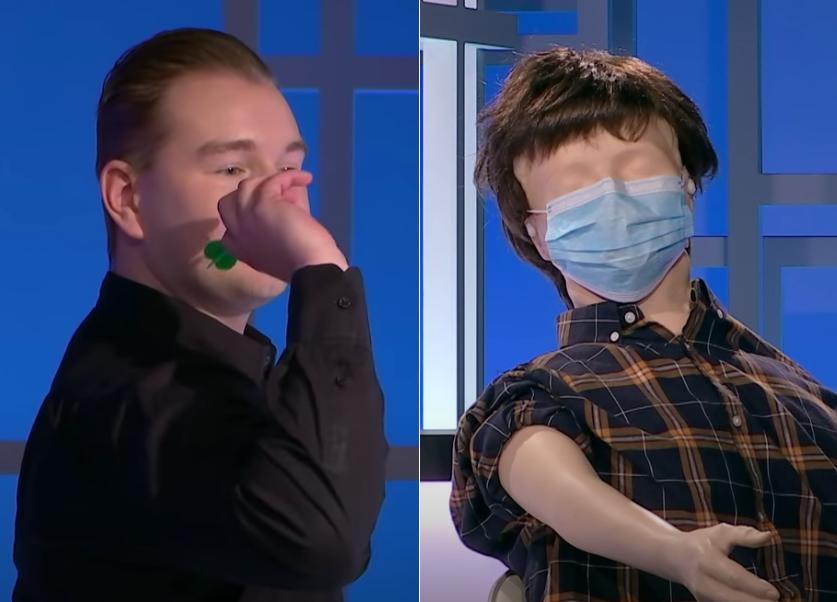 VIDEO: Dimitri van den Bergh Does Vaccinations With Darts Technique