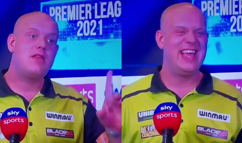 VIDEO: Funny Moment By Michael Van Gerwen At Sky Sports After Match