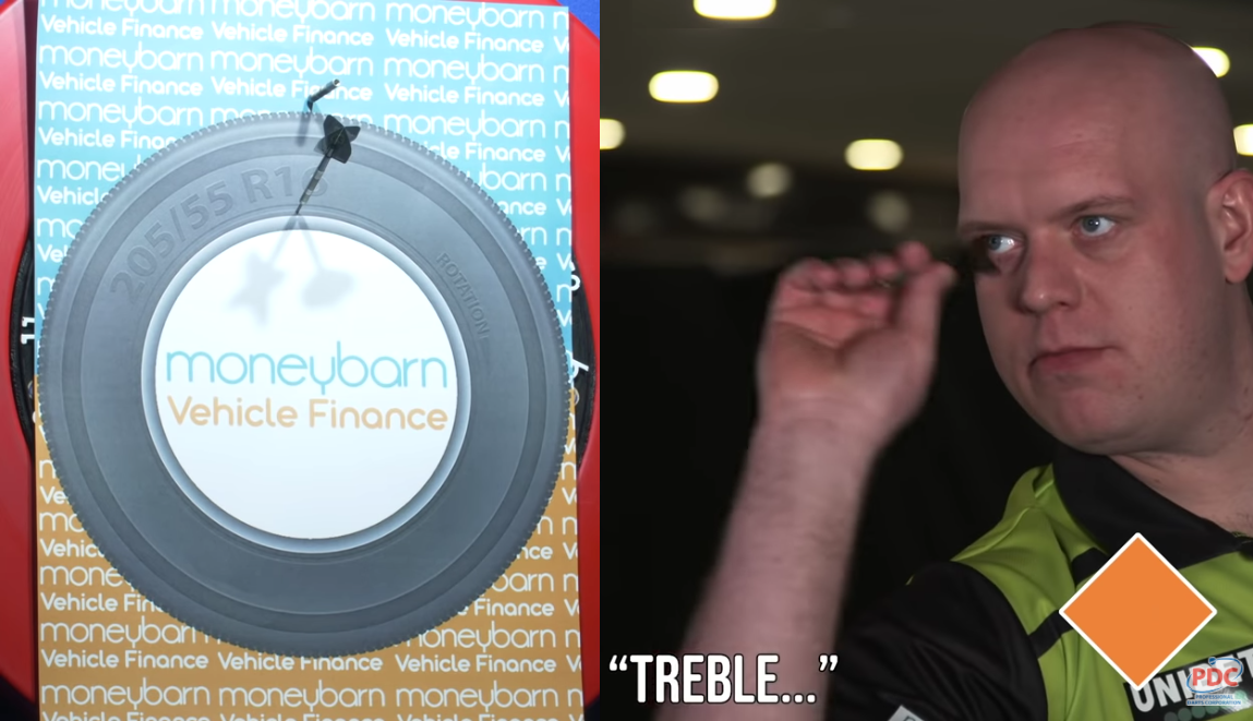 VIDEO: Michael van Gerwen Plays A Game of Blind Darts 🙈