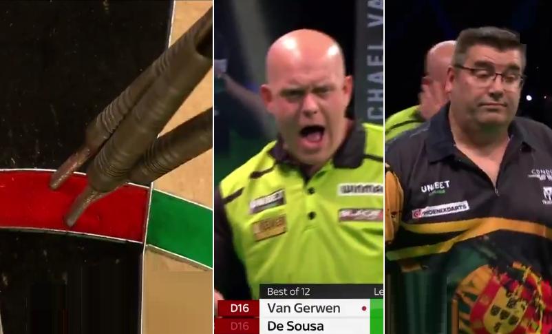 VIDEO: Van Gerwen & De Sousa Hit Incredible 14 Perfect Darts In One Leg