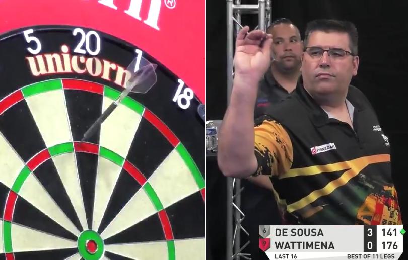 VIDEO: Jose de Sousa Another 9-Darter Against Jermaine Wattimena
