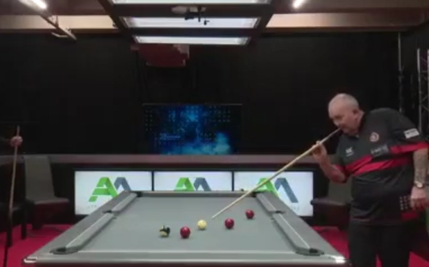 VIDEO: Phil Taylor Wins A Game Of Pool In Style With Darts Technique