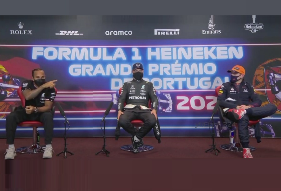 VIDEO: Funny Chat Between Lewis And Max During Press Conference