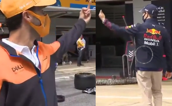 VIDEO: Perez And Ricciardo Giving Each Other The Middle Finger