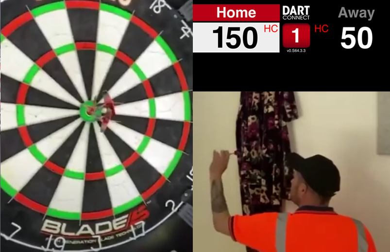 VIDEO: This Guy Hits A 150 Bull Bull Bull Checkout On His Knees