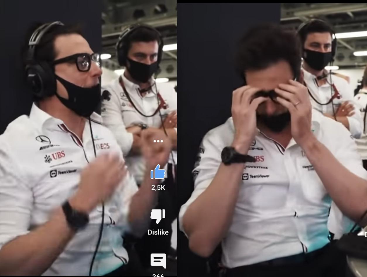 VIDEO: Footage Showing Toto Wolff's Reaction During Baku Restart