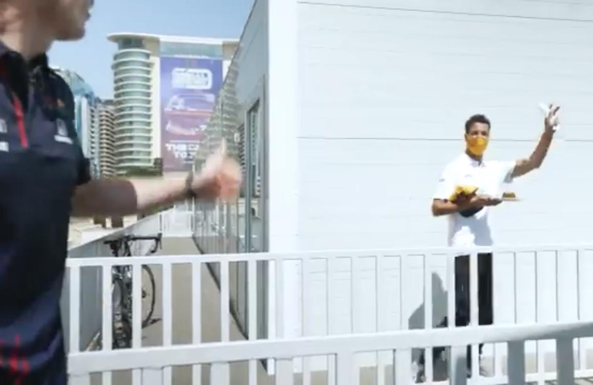 VIDEO: Funny Moment Between Max And Daniel In Baku Paddock