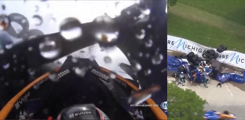 VIDEO: Onboard Footage of Horror Crash by Felix Rosenqvist In IndyCar