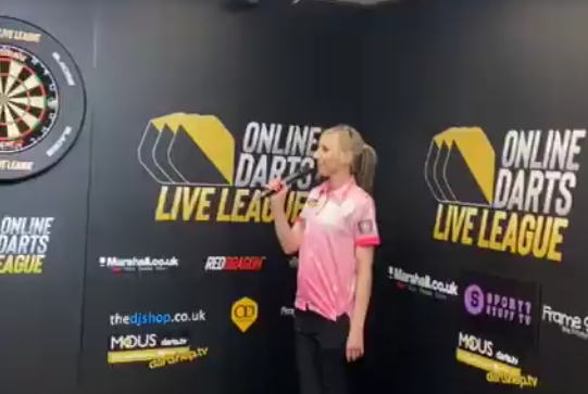 The 180 Sound of 'Referee' Fallon Sherrock During Online Darts League