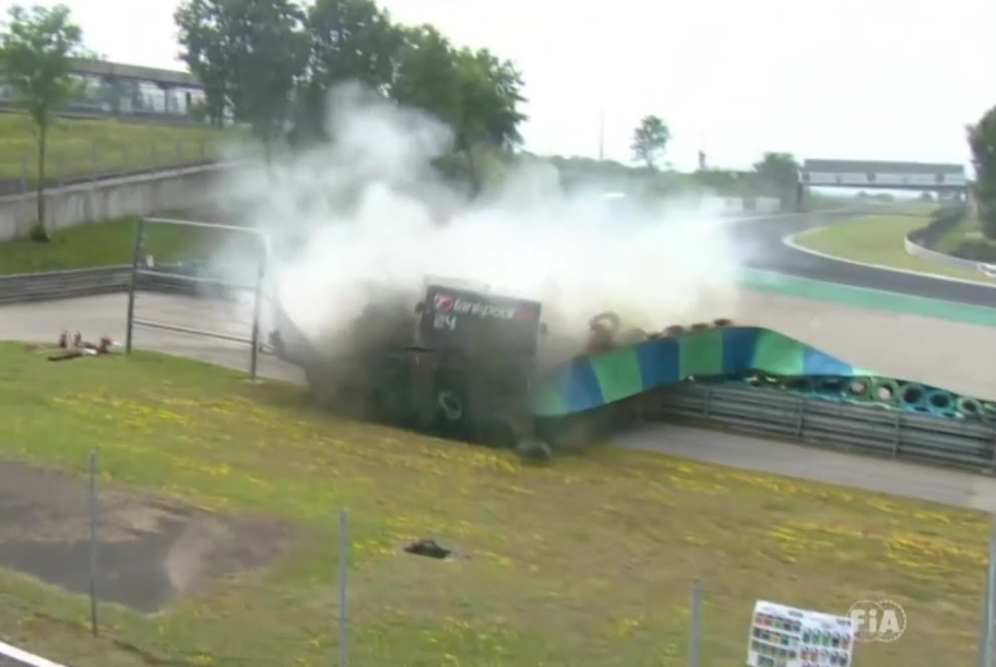 VIDEO: Big Crash During This Weekend's Truck Race At Hungaroring
