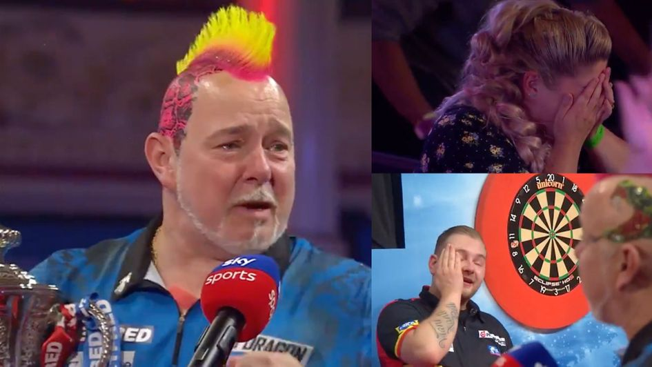 VIDEO: Emotional Peter Wright, Dimitri van den Bergh & Joanne Wright